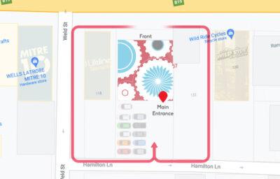 Latrobe Entrance Map